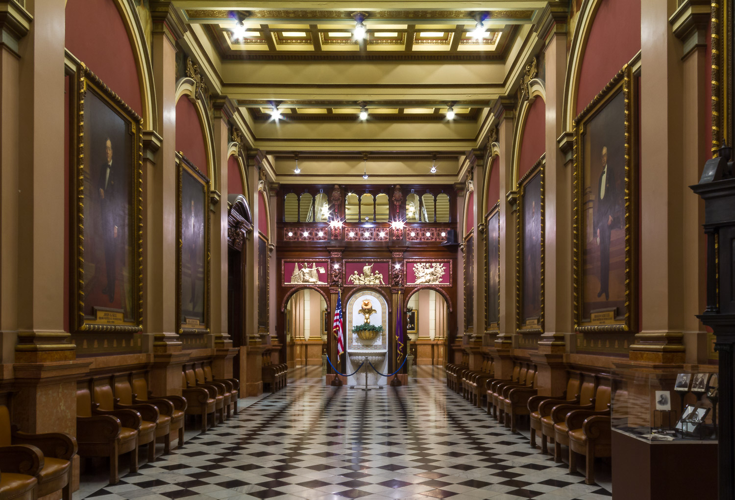 The Grand Foyer at the Masonic Temple in Philadelphia, Pennsylvania