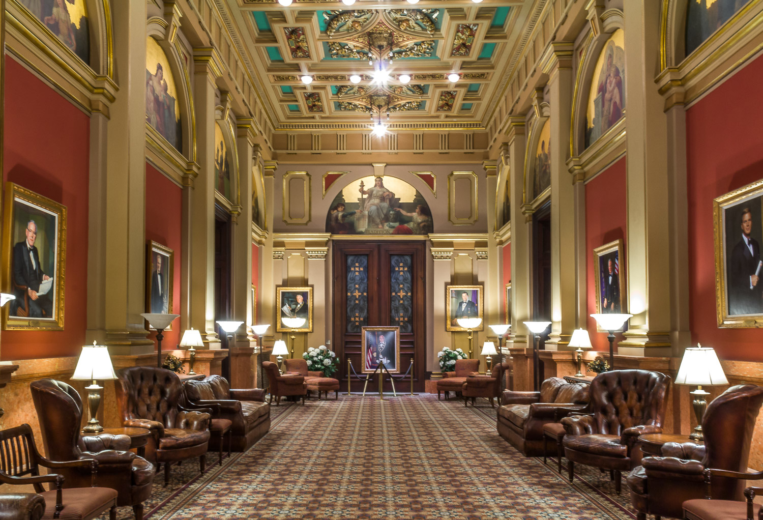 The Franklin Room at the Masonic Temple in Philadelphia, Pennsylvania