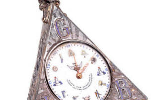Pocket Watch with Masonic Symbols, late 19th Century