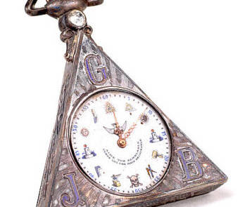 Pocket Watch with Masonic Symbols, late 19th Century