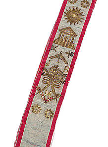 Sash of Brother Benjamin Franklin, c. 1779