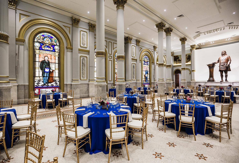 The Grand Ballroom at the Masonic Temple in Philadelphia, Pennsylvania