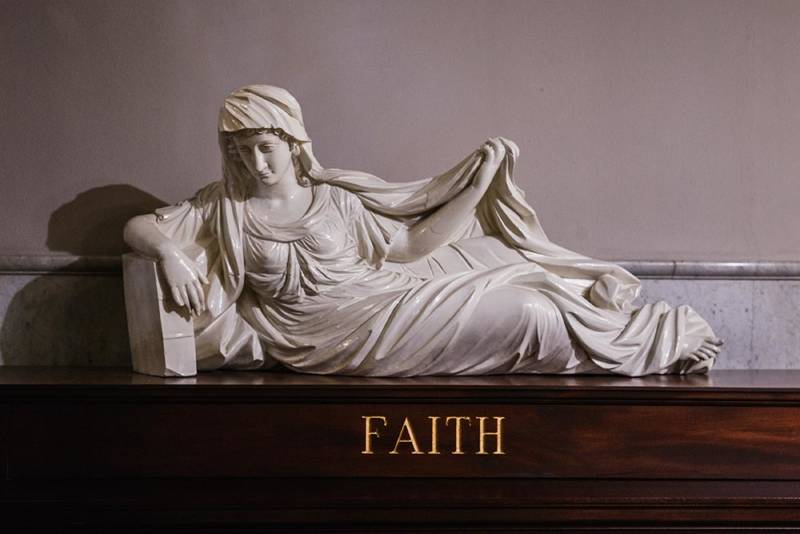 William Rush Faith sculpture at the Masonic Temple in Philadelphia, Pennsylvania