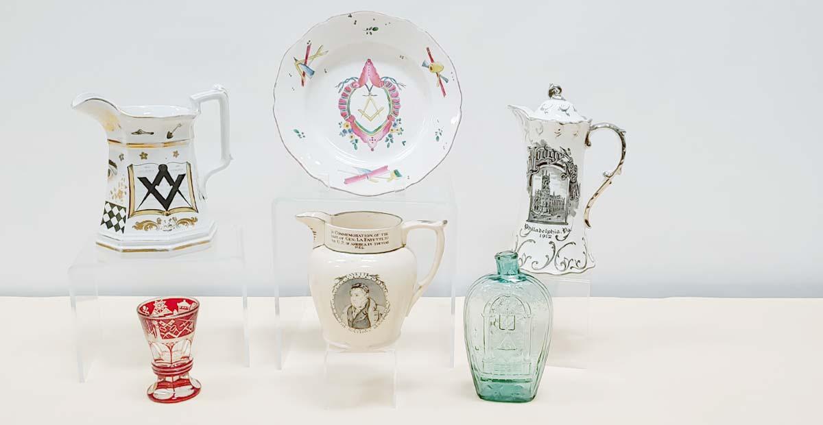 Masonic Ceramics & Glass