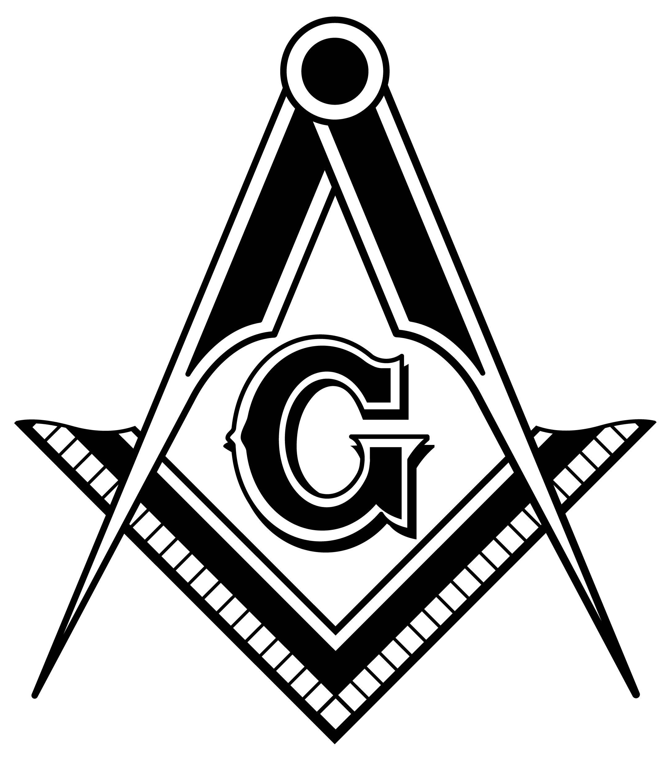 Grand Lodge Square and Compass black