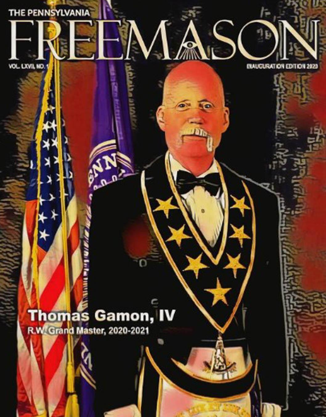 Colorized digital image of R.W. Grand Master Thomas Gamon IV.