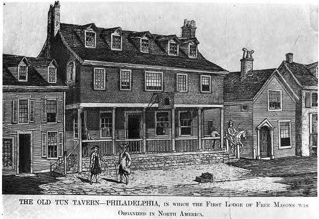 Tun Tavern Line drawing
